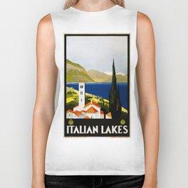 Vintage poster - Italian Lakes Biker Tank