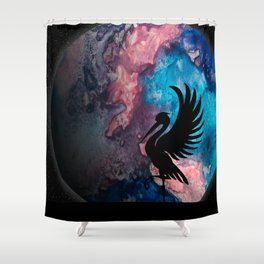 Watercolor Planet Shower Curtain