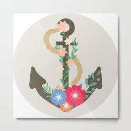 Floral anchor Metal Print
