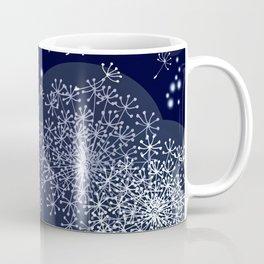 MIDNIGHT MAGIC DANDELION - BLUE by MS Coffee Mug