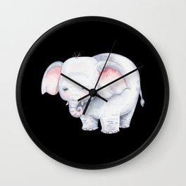 Watercolor Elephant gift for elephant fans Wall Clock