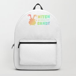 (tshirt) Witch Better Have My Candy (soft rainbow) Backpack