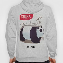 China Panda travel poster Hoody