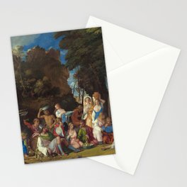 The Feast of the Gods Painting by Giovanni Bellini and Titian Stationery Cards
