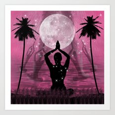 Moon Meditation Art Print
