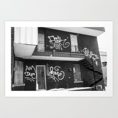 Boarded up contrast Art Print