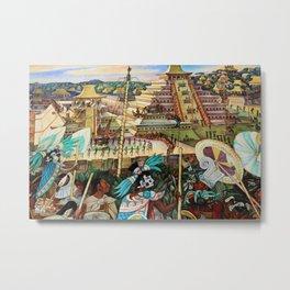 The Totonac Civilization or the Jaguar People in Veracruz, Palacio Nacional Mexico by Diego Rivera Metal Print