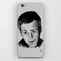 greg guillemin iPhone & iPod Skins featuring Greg Lestrade Sketch by Soyarts