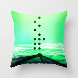 Green Abstract Passion Throw Pillow