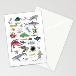 Under the Sea Alphabet Stationery Cards