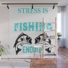 fishing rod tackle poles equipment call gear cast line tee Wall Mural