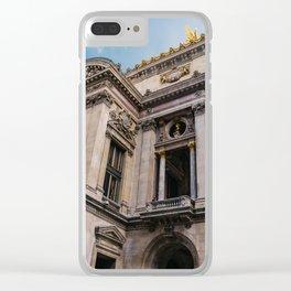 Parisian Smoke Break III Clear iPhone Case