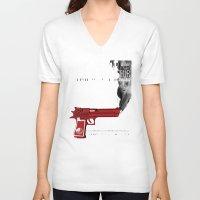 propaganda V-neck T-shirts featuring THC Propaganda by The Hemp Connoisseur  ™