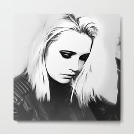 Bea Miller - Celebrity Art Metal Print