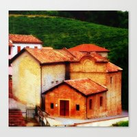 italian Canvas Prints featuring ✔️Italian Farmhouse by Tru Images Photo Art