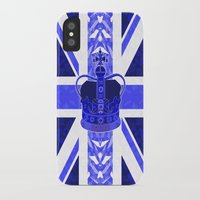 british flag iPhone & iPod Cases featuring Royal Blue - British Flag & Crown by Ornaart