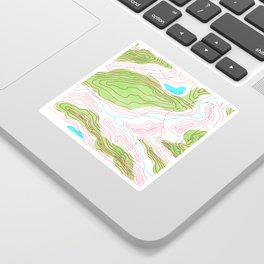 Let's go hiking - topographical map Sticker