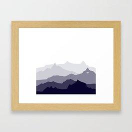 BLUE MOUNTAIN PANORAMA #minimal #art #design #kirovair #buyart #decor #home Framed Art Print