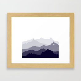 BLUE MOUNTAIN PANORAMA #minimal #art #design #kirovair #buyart #decor #home Framed Art Print