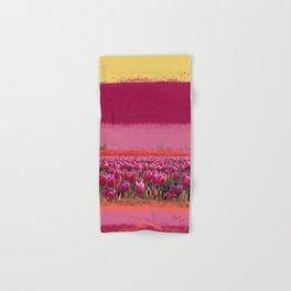field of tulips Hand & Bath Towel