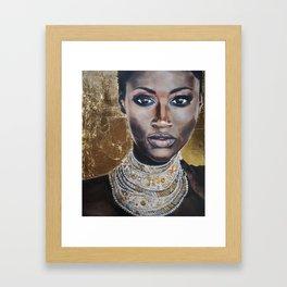 Graceful Ebony Framed Art Print
