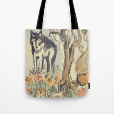 Wolf in the Woods Tote Bag