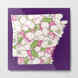 Arkansas in Flowers Metal Print