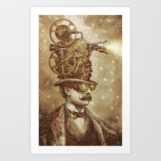 The Projectionist (sepia option) Art Print