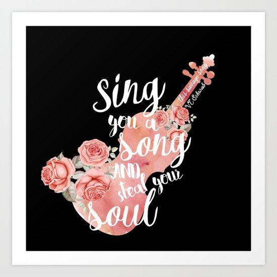This Savage Song Art Print
