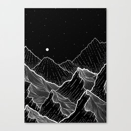 Sea mountains Canvas Print