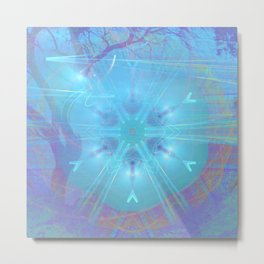 Mysterious lights in the forest Metal Print