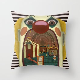 Creepy Circus Throw Pillow