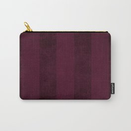 Red Wine Stripes Carry-All Pouch