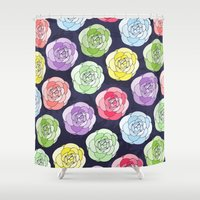 candy Shower Curtains featuring Candy by Anchobee