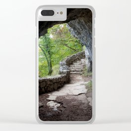 Exit From A Cave Clear iPhone Case