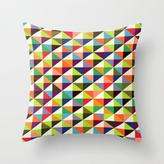 Mid-century triangle pattern Throw Pillow