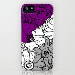 Asexual flowers iPhone Case
