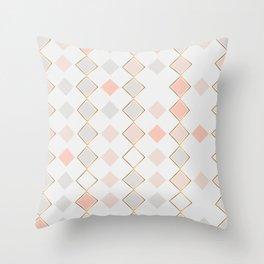 Pattern Rose Throw Pillow