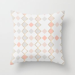 Pattern Rose Throw Pillow