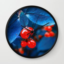 Garden Red Lamps Wall Clock