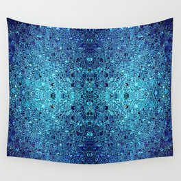Deep blue glass mosaic Wall Tapestry