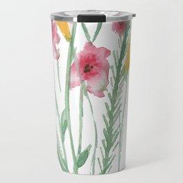A Bunch of Flowers Travel Mug