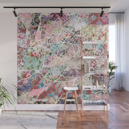 Charlottesville map Virginia Wall Mural