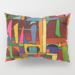 Colors In Collision 1 - Geometric Abstract of Colors that Clash Pillow Sham