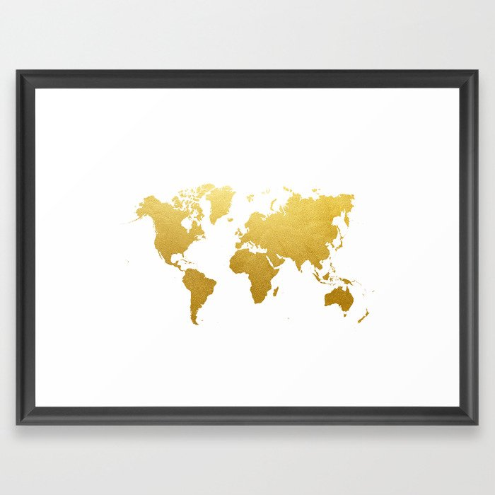 Faux gold foil world map print gold art print interior design wall faux gold foil world map print gold art print interior design wall art pop art the globe usa europe framed art print by cocoandjames society6 gumiabroncs Choice Image