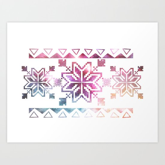 Neo-Ro Pattern Art Print