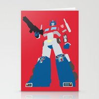 optimus prime Stationery Cards featuring Transformers G1 - Optimus Prime by TracingHorses
