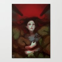 dragon age Canvas Prints featuring Dragon Age: Blood Lotus by mureh