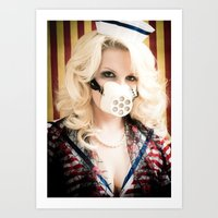 nurse Art Prints featuring Nurse by Critter Zeppelin