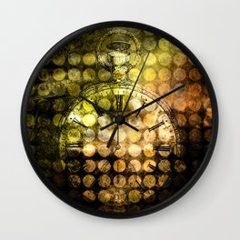 MELANGE WITH A CLOCK Wall Clock